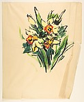 Design for a Scarf:  Daffodils