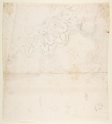 Design for One Quarter of a Ceiling with a Medaillons at the Center (recto); Design for a Quarter of a Ceiling with a Medaillon at the Corner and a Medaillon at the Center (verso)