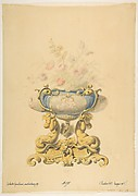 Design for a Porcelain Flower Bowl with Bronze Mount