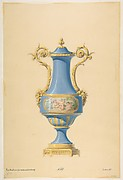Design for a Porcelain Vase with Bronze Mount