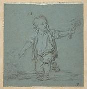 Boy Holding Flowers