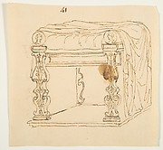 Drawing After an Antique Tabouret