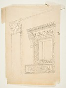 Drawing After an Architectural Fragment with a Corinthian pilaster