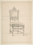 Wainscott Chair Design with a Panel Depicting Leda and the Swan