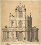 Elevation of West Façade of a Church