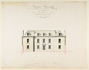 Design for the Exterior Façade of the Country House of Monsieur Blaney, Belleville (recto); Design for façade (verso)