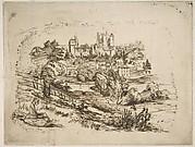 Ruines du Château de Pierrefonds (Ruins of the Château de Pierrefonds, after Viollet-le-Duc)