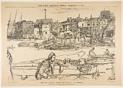 "The Old Thames: ""Black Lion Wharf,"" an Etching"