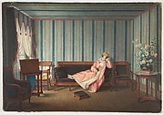 Woman in Pink Reclining on a Canape
