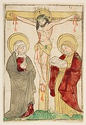 Christ on the Cross, with the Virgin and Sain John