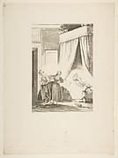 La Gageure des trois Commeres: La Servante, from Contes et nouvelles en vers par Jean de La Fontaine.  A Paris, de l'imprimerie de  P. Didot, l'an III de la République, 1795