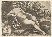 Nude woman (Venus) reclining in a landscape