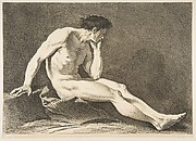 "An ""Académie"": Sitting Man"