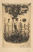 Unpublished frontispiece for Baudelaire's Les Fleurs du Mal