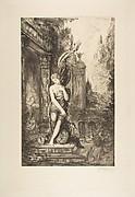 L'Homme qui court après la Fortune et celui qui l'attend dans son lit, after Gustave Moreau