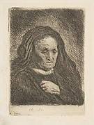 Rembrandt's Mother with Hand on Chest: Small Bust
