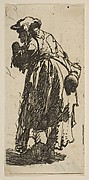 Old Beggar Woman with a Gourd