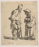 Beggar Man and Woman Conversing