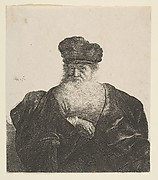 Old Man with Beard, Fur Cap, and Velvet Cloak