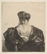 Old Man with Beard, Fur Cap, and Velvet Cloak