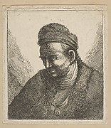 Beardless Man in Fur Cloak and Cap: Bust (copy)