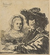 Rembrandt and his Wife
