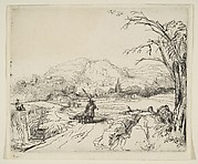 Landscape with a shepherd and a dog