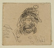 Bearded Man in Soldier's Cap (from Sketches on the Coast Survey Plate)