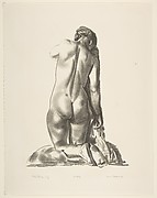 Nude Study, Woman Kneeling on a Pillow