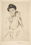 Mother Holding Her Nude Baby