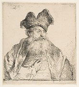 Old Man with Divided Fur Cap