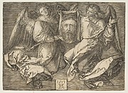 Sudarium Held by Two Angels