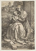 Virgin and Child Seated by the Wall