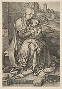 Virgin and Child Seated by the Wall (reverse copy)