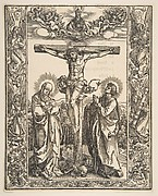 Christ on the Cross between the Virgin and St. John