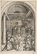 Christ among the Doctors, from The Life of the Virgin, Latin Edition, 1511