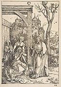 Christ Taking Leave of his Mother, from The Life of the Virgin