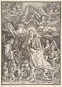 The Virgin Surrounded by Many Angels, from The Life of the Virgin, 1511
