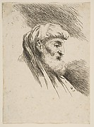 Head of an old bearded Man facing Right