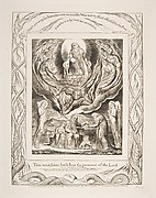 Satan Going Forth fron the Presence of the Lord, from Illustrations of the Book of Job