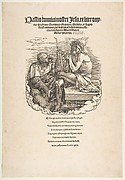 The Man of Sorrows Mocked by a Soldier, title page to The Large Passion