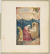 Songs of Innocence and of Experience: Cradle Song (second plate): Wept for me for thee for all
