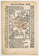 Von Ungluckes Fal, title page chapter 37 from Sebastian Brandt, Das Narrenschrift