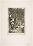Warlock on a Swing Among Demons, from Bordeaux Etchings
