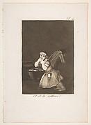 Plate 4 from 'Los Caprichos': Nanny's boy (El de la rollona.)