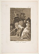 Plate 6 from 'Los Caprichos':  Nobody knows himself (Nadie se conoce.)