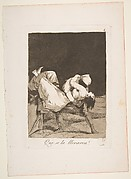 Plate 8 from 'Los Caprichos': They carried her off! (Que se la llevaron!)