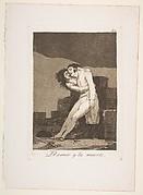 Plate 10  from 'Los Caprichos': Love and death (El amor y la muerte)