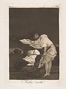 Plate 36 from 'Los Caprichos: A bad night (Mala noche.)