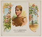 Willie Harradon, Cyclist, The Youthful Phenomenon, from World's Champions, Second Series (N43) for Allen & Ginter Cigarettes